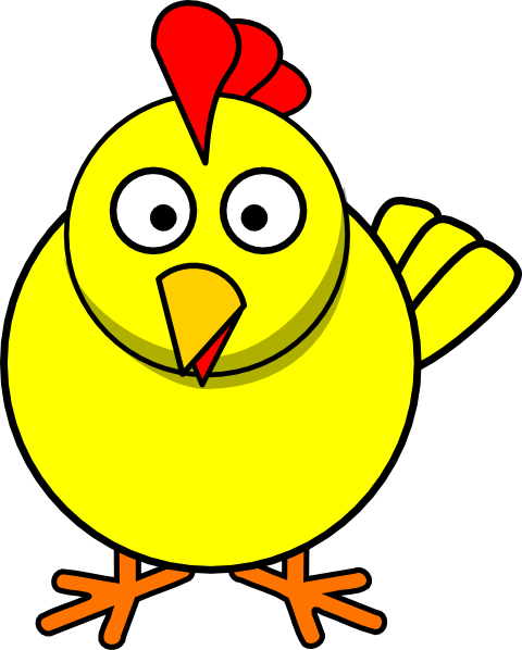 480x598 Yellow Chicken Clip Art