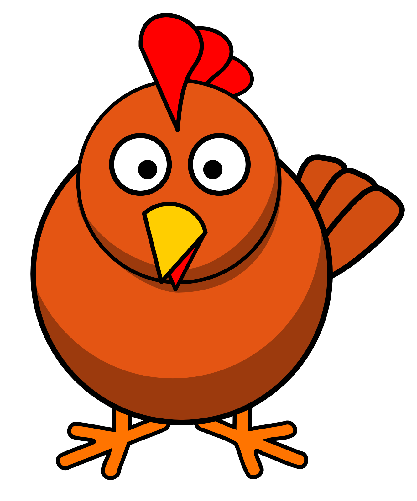 1331x1597 Chicken Vector Art