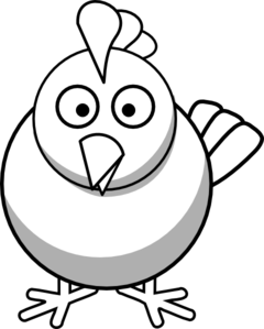 240x299 Chicken Face Clipart