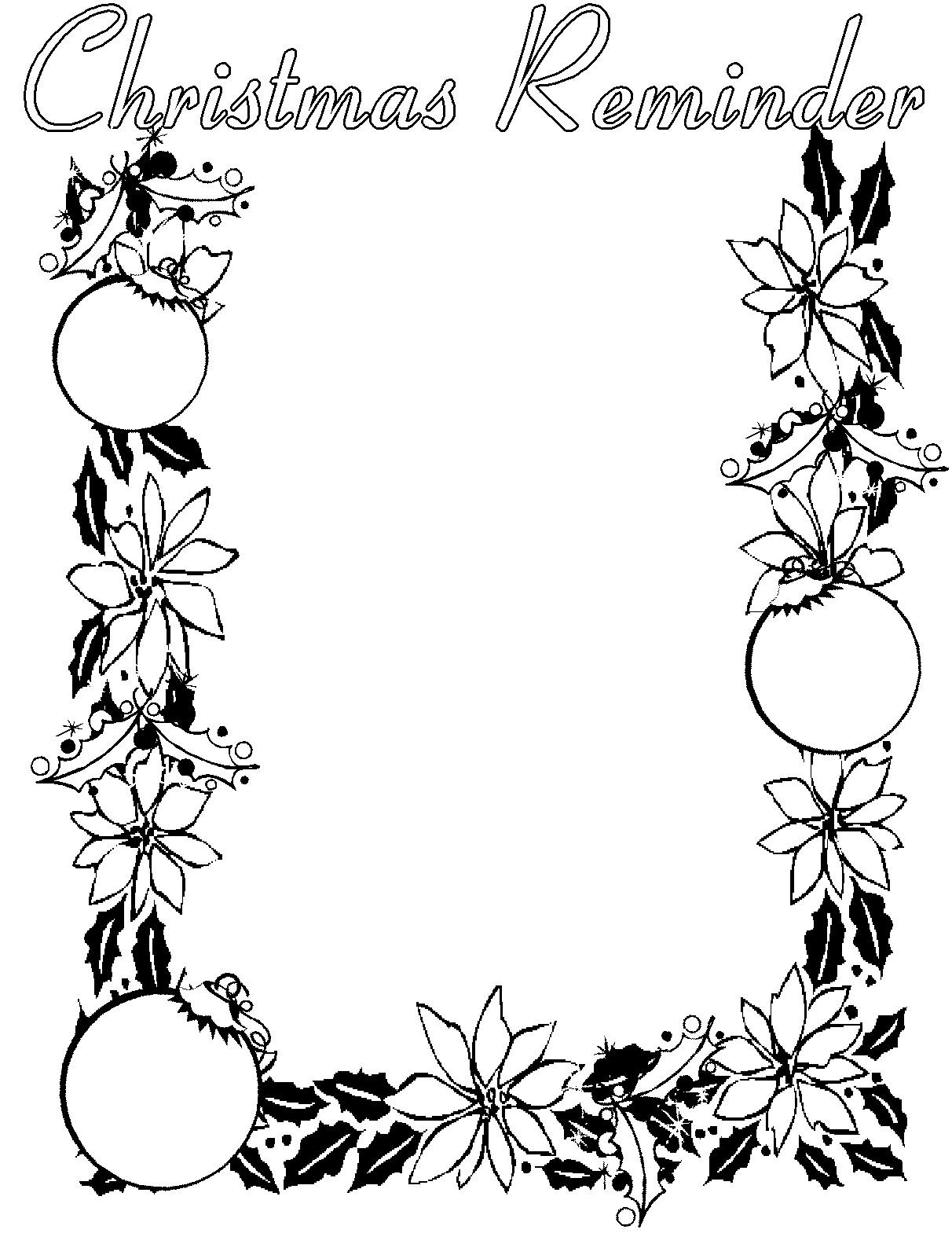 1212x1597 free christmas clip art borders black and white - Christmas Clip Art Free
