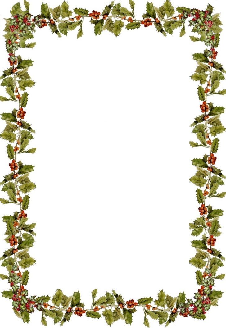 free christmas clipart borders for word