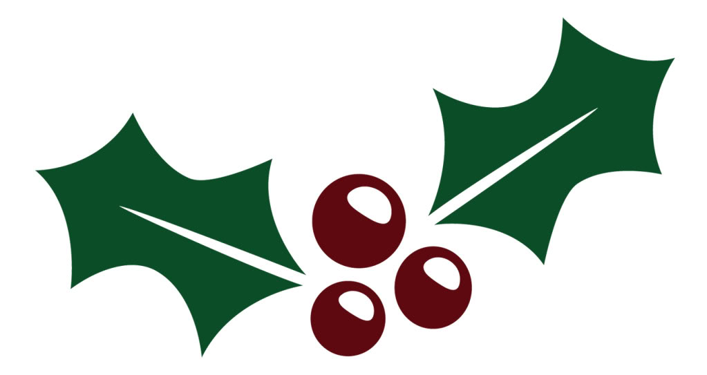 1023x543 Holly Leaves Free Clipart