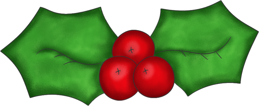 877x359 Christmas Holly Clip Art 2