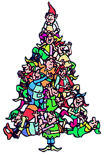 204x304 Free Christmas Tree Clipart