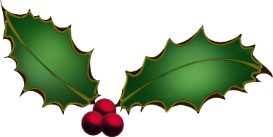 385x194 Free Christmas Clip Art Holly Clipart Images