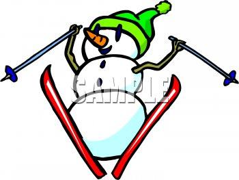 350x263 Nice Free Clipart Skiing Royalty Free Snowman Clip Art Christmas