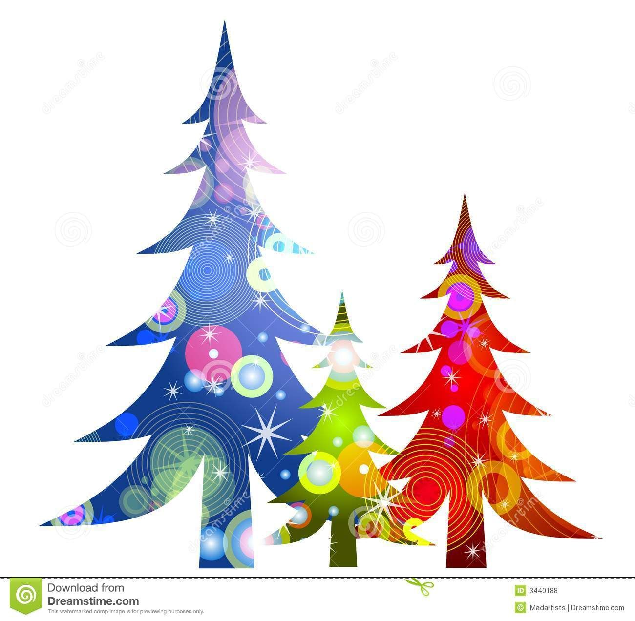 1300x1272 Retro Christmas Trees Clip Art Royalty Free Stock Photos