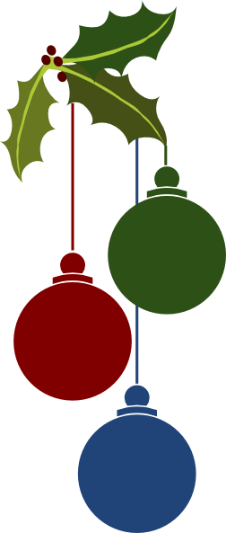 252x593 Christmas Ornaments Clip Art