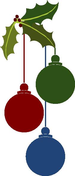 252x593 Christmas Ornaments Clip Art