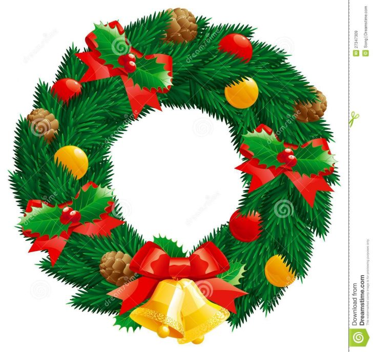728x687 Christmas ~ Christmas Wreath Clip Art Free Images Transparent