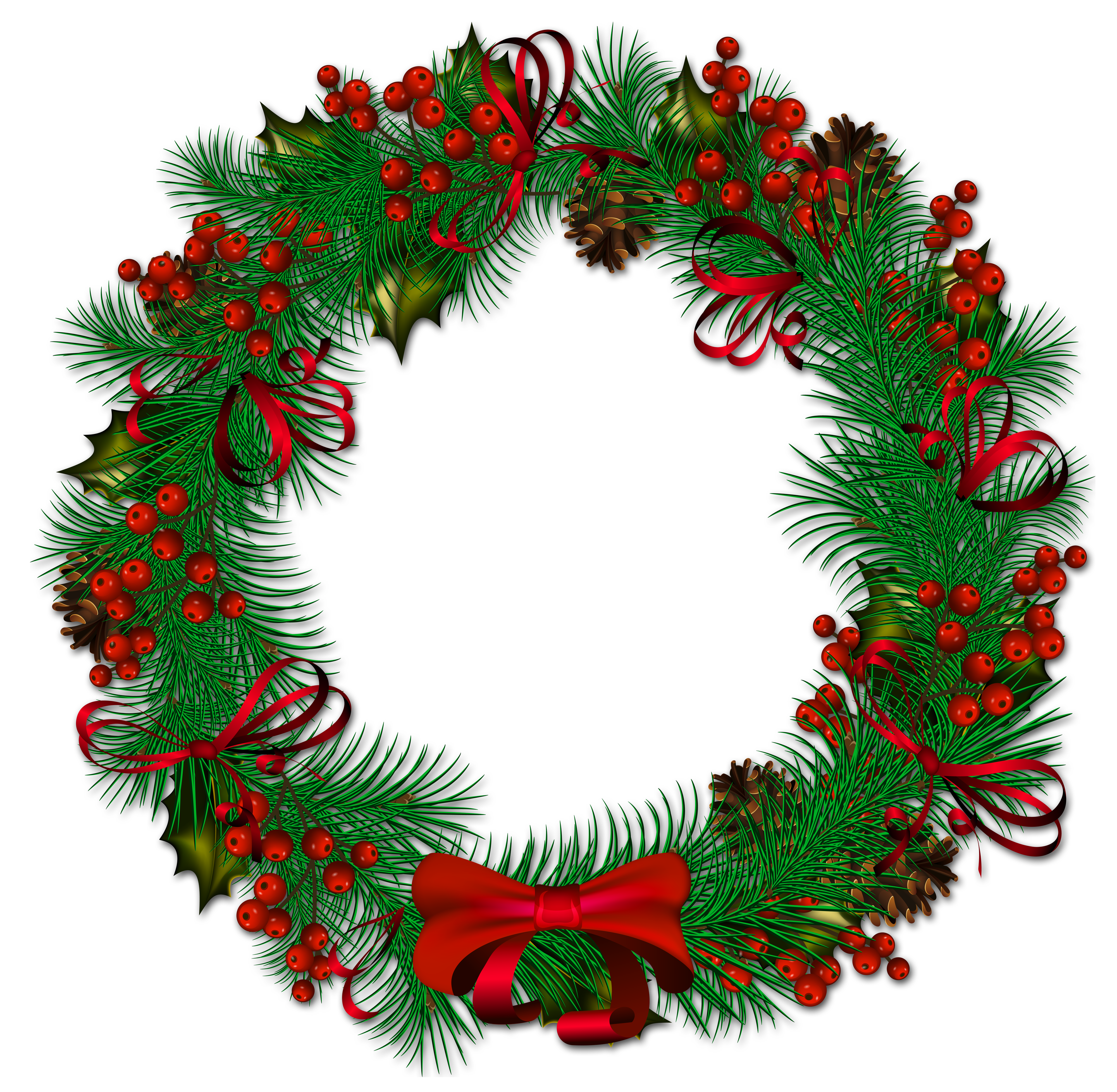 4000x3910 Christmas ~ Christmas Wreath Clipart Cliparts Vector Stock Border