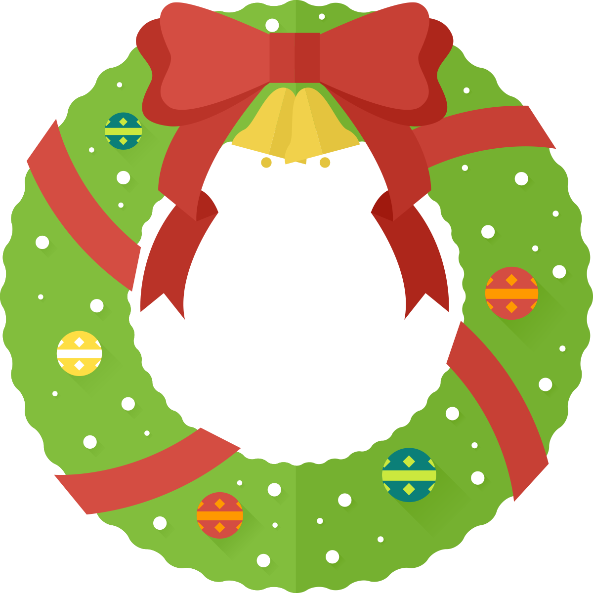 Christmas Wreath Silhouette Vector.Free Christmas Wreath Clipart Free Download Best Free