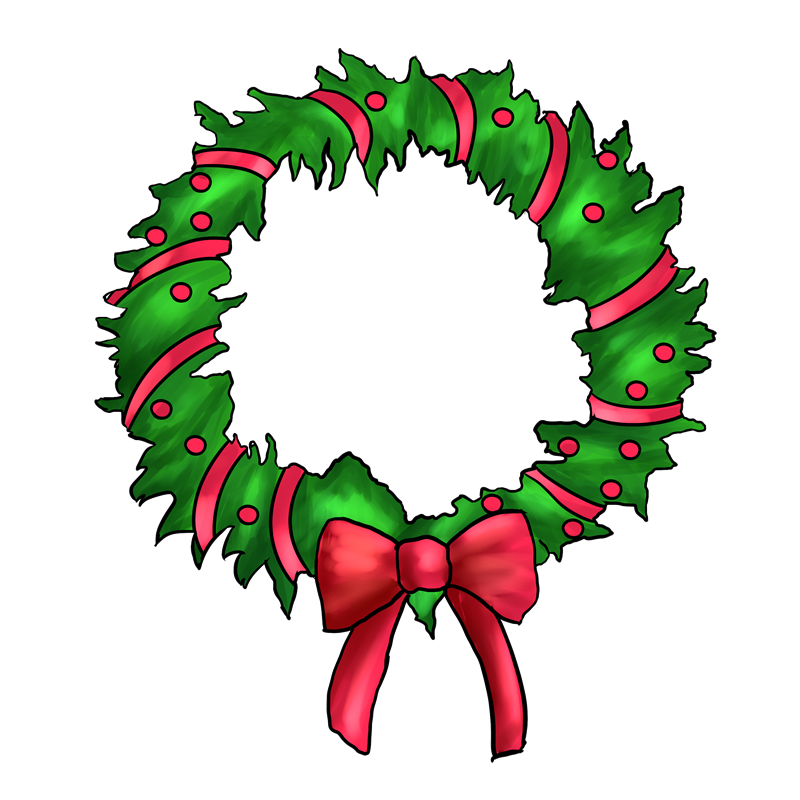 Christmas wreath reef. Free clipart download best