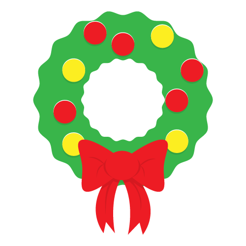 500x500 Free Christmas Wreath Clip Art