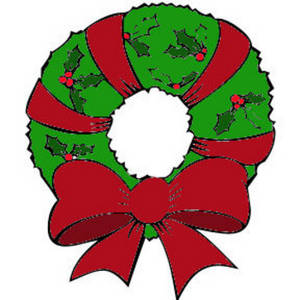 300x300 Free Christmas Wreath Clipart Kid