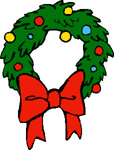 228x300 Free Christmas Wreath Clipart Public Domain Clip Art