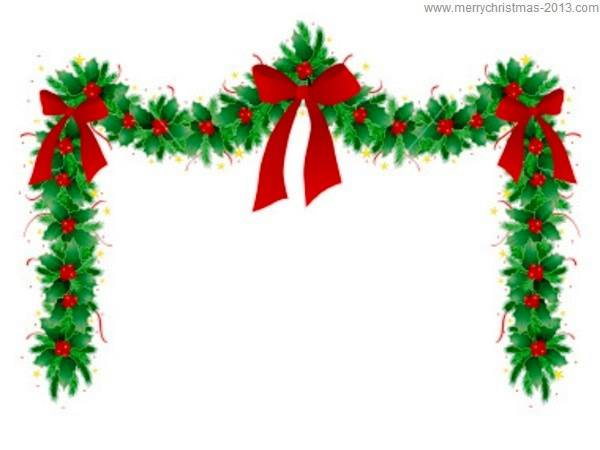 600x450 Merry Christmas Clipart Holiday Garland