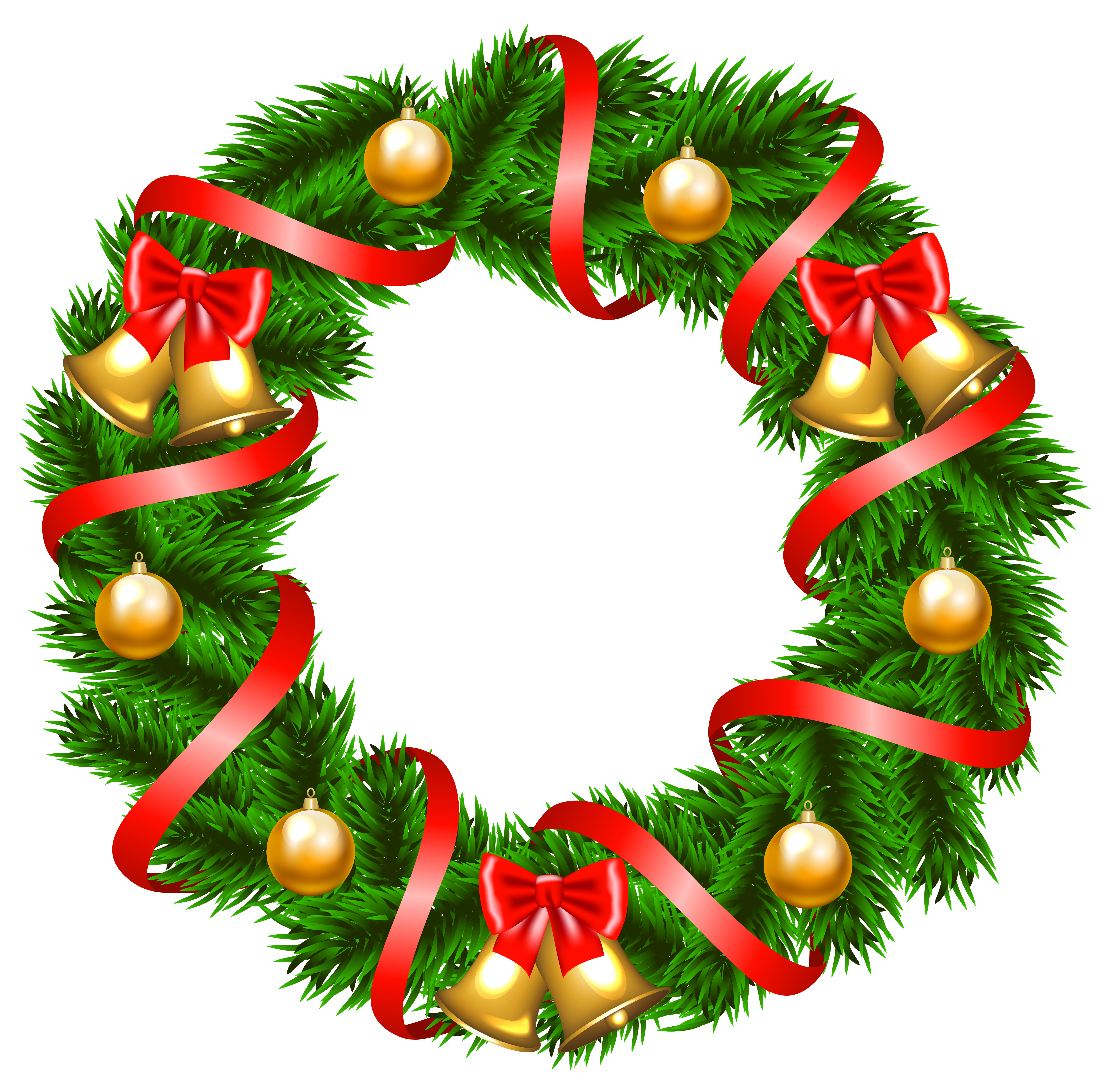 6158x6076 Wreath Clipart Holiday Decoration