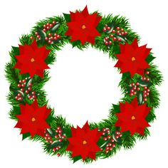 236x236 Christmas Wreath Vector Illustration Material Scrapbooking