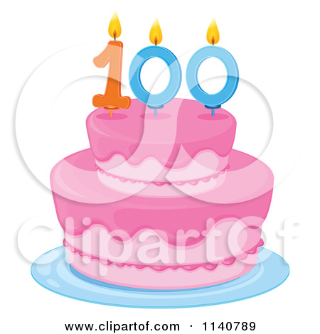 450x470 Cake Clipart 100 Year