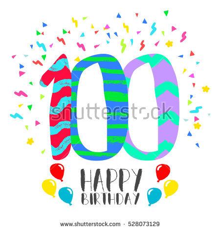 450x470 100 Birthday Clipart