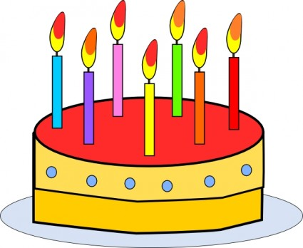 425x348 Clipart Free Birthday Candle