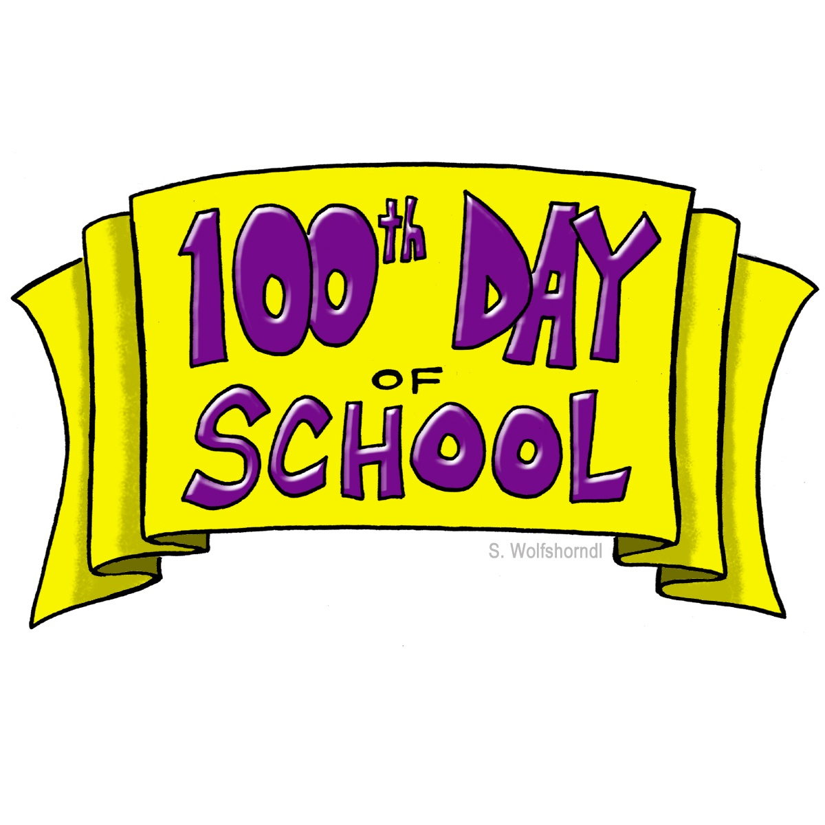 1200x1200 100 Day Clip Art