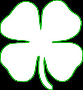 276x299 Four Leaf Clover Border Clipart