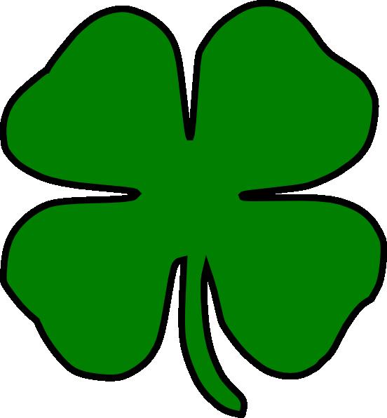 552x596 Four Leaf Clover Clipart