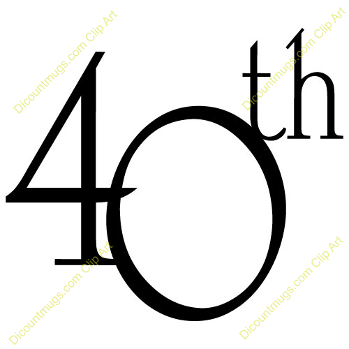 Free Clipart 40th Birthday