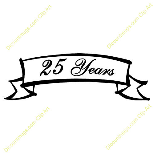 500x500 25th Wedding Anniversary Clipart
