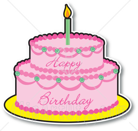 450x425 1 Year Old Birthday Cake Clipart