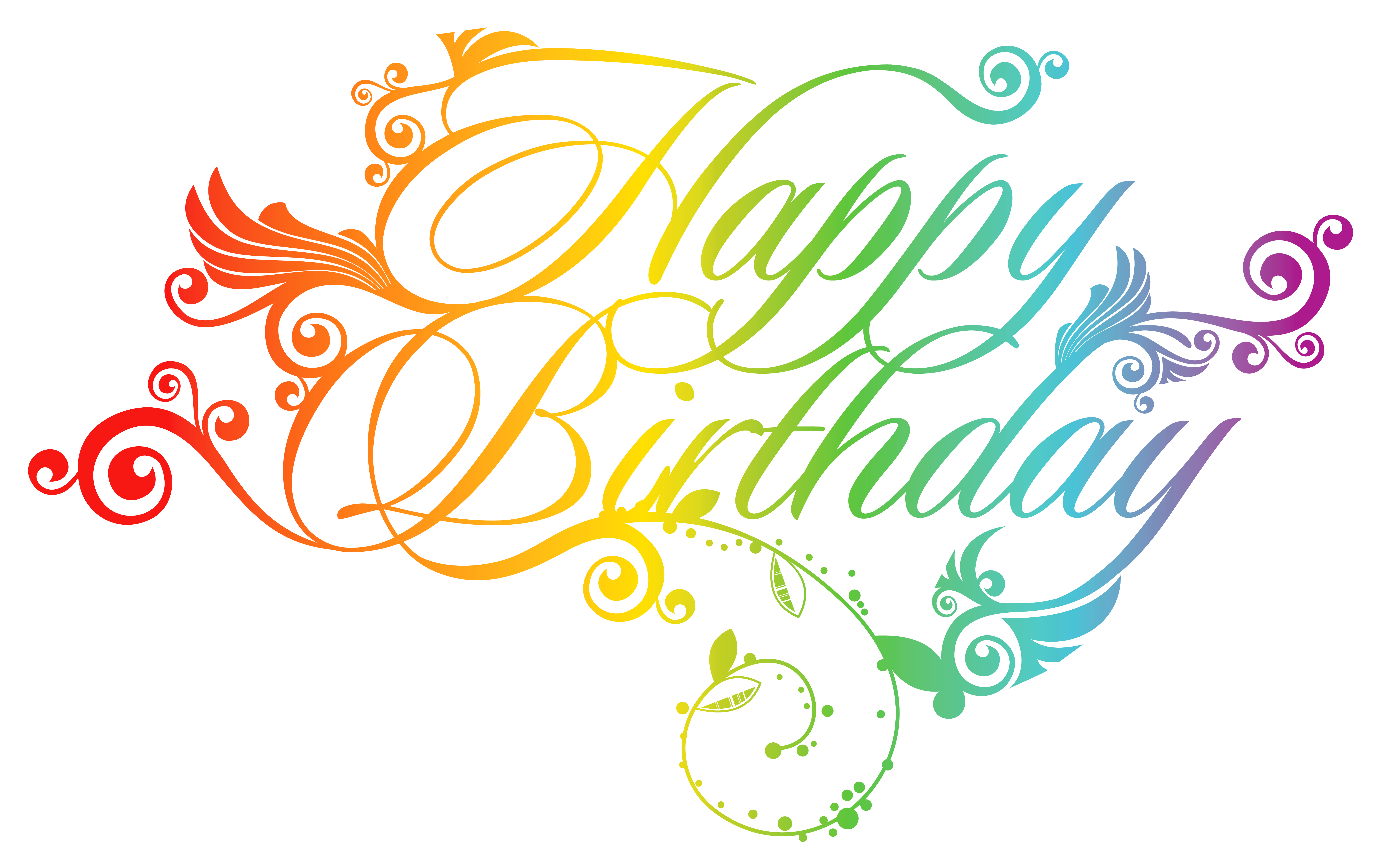 6419x4014 Colorful Happy Birthday Png Clipart Pictureu200b Gallery