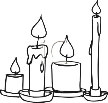 350x333 Black Amp White Clipart Candle