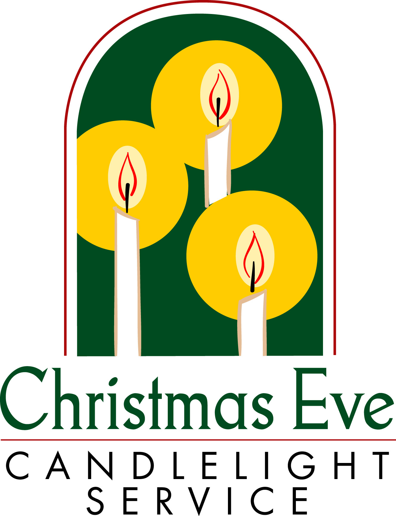 1329x1732 Candlelight Service Clipart