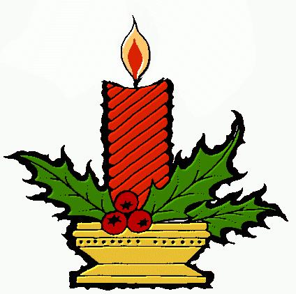 424x422 Image Christmas Candle Free Clip Art Image