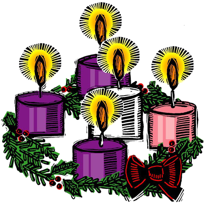 674x672 Advent Candle Clipart