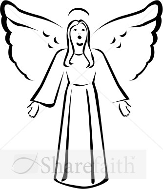 334x388 Singing Christmas Angels Clipart