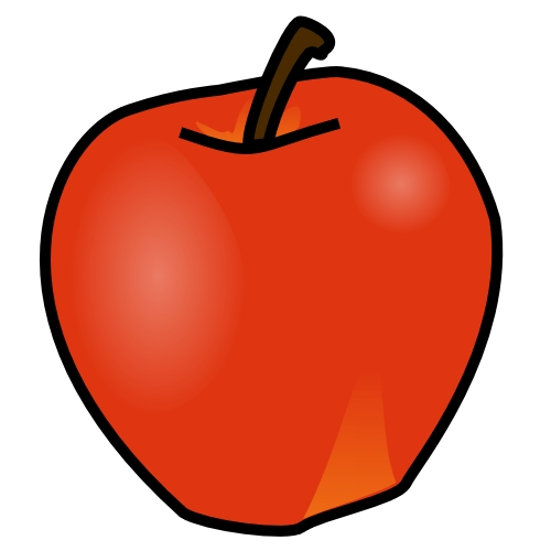 500x500 Download Fruit Clip Art Free Clipart Of Fruits Apple Bananna 2
