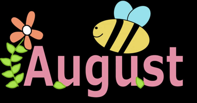 820x431 Month Of August Clipart August Clip Art Free Clipartsco