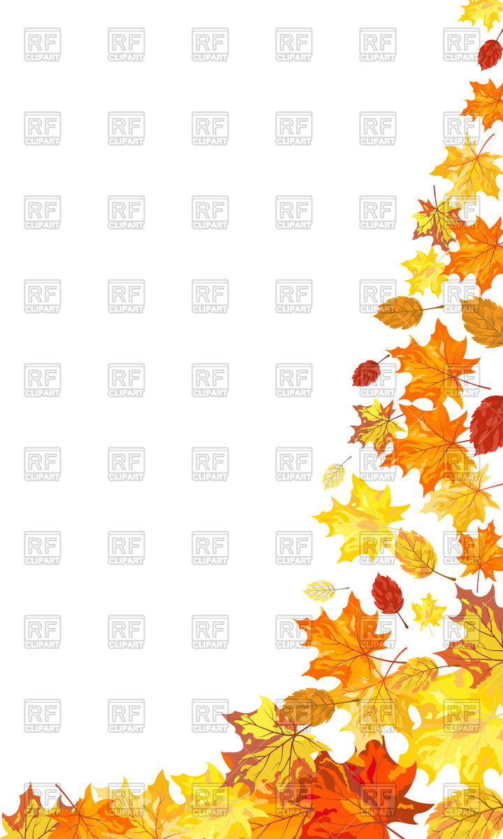 720x1200 Decorative Corner Made Of Autumn Leaves Of Maple Royalty Free