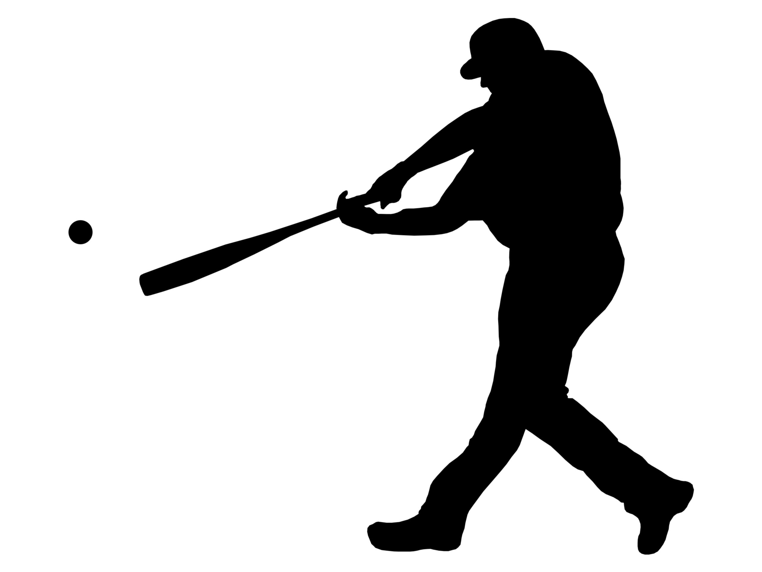 2536x1904 Free Clipart Baseball Player Silhouette 2