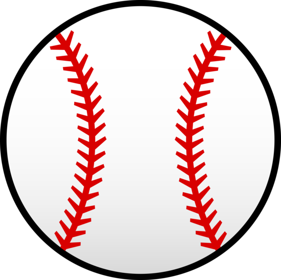 550x549 White Baseball With Red Seams