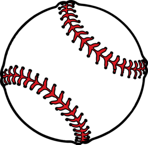 300x294 Baseball Thick Boarder Clip Art
