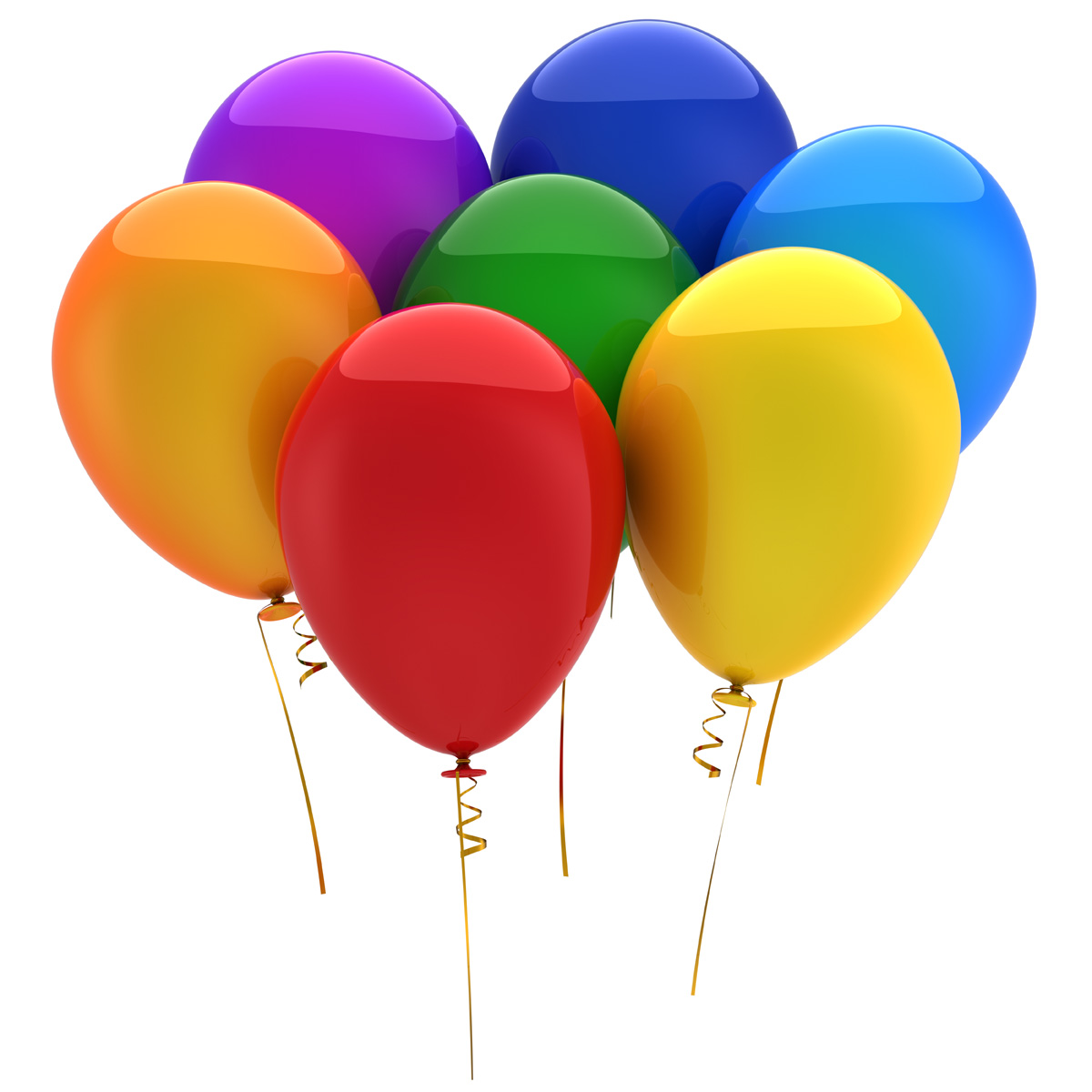 1200x1200 Birthday Balloons Clipart