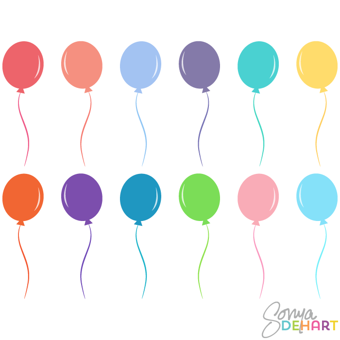 700x700 Vector Clip Art Birthday Party Balloons