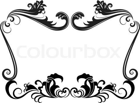 480x356 Clipart Wedding Border