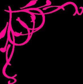292x297 Hot Pink Heart Border Clip Art