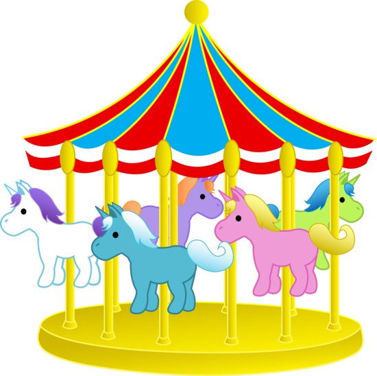 550x548 Carousel Ponies Cute Carnival Carousel With Ponies