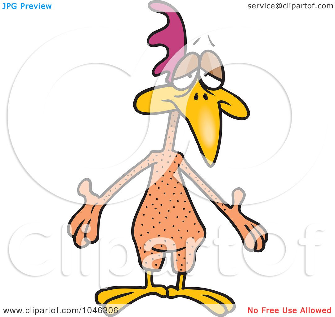 1080x1024 Royalty Free (Rf) Clip Art Illustration Of A Cartoon Featherless